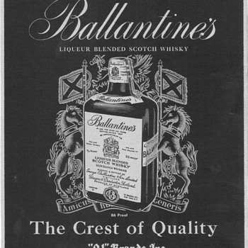 1955 Ballentines Scotch Advertisement 1