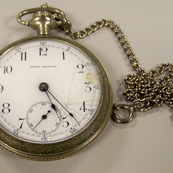 SETH THOMAS Silver Pocket Watch ( Help) - Pocket Watches