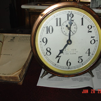 1917 Copper  8 Day Alarm Clock...Made In St. Louis, Missouri U.S.A.