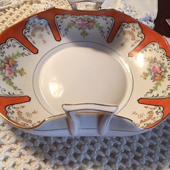 Orange Noritake serving plate