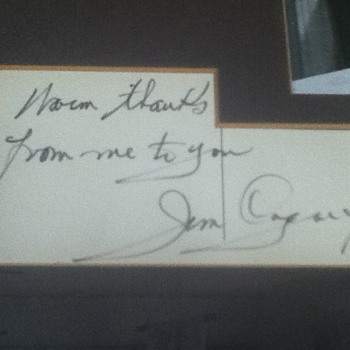 Jimmy Cagney Autograph