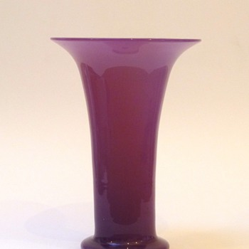 Big pink tango (?) vase - Art Glass