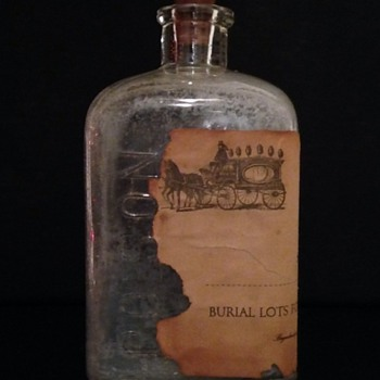 Embalming Glass Bottle With Original Paper Label.
