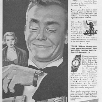 1951 - Hamilton Watch Advertisement - Advertising