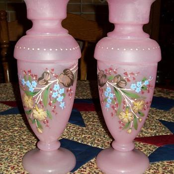 Pink Vases - Glassware
