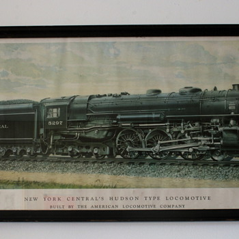 New York Central Hudson Print - Railroadiana