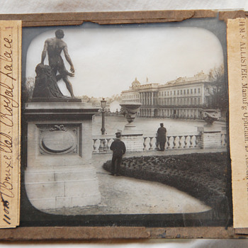 "Old Magic Lantern Glass Slide ""Bruxelles Royal Palace"""