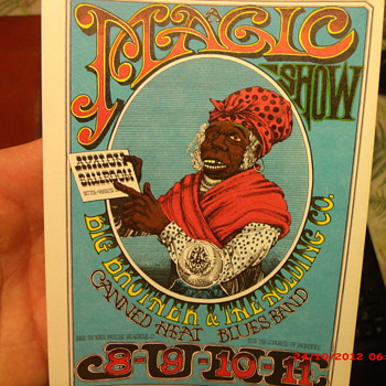 A Magic Show themed handbill by Artist Rick Griffin  - Music