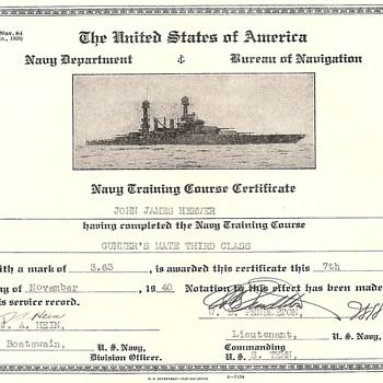 Navy Department *****Bureau of Navigation - Military and Wartime