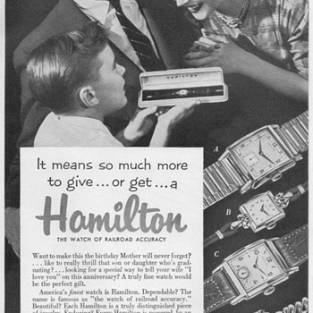 1953 - Hamilton Watches Advertisement - Advertising