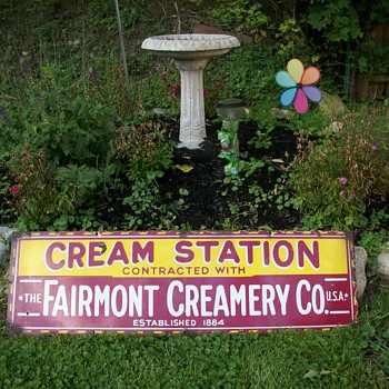 fairmont creamery sign - Signs