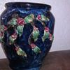 Cobalt Blue Majolica Vase
