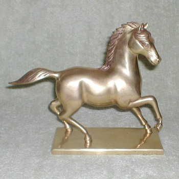 Brass Horse Bookends