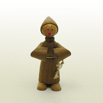 Friar wooden figurine (Spain, 1960s)