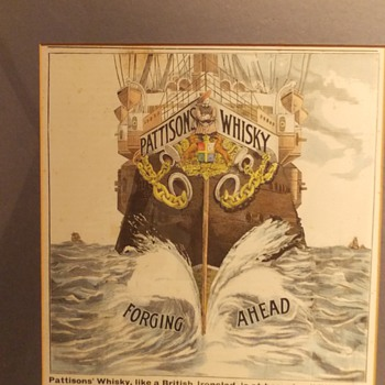 Old whisky advert