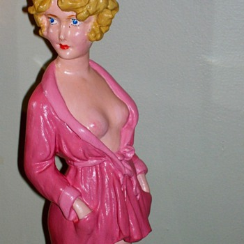"Vargas type Girl 17"" tall . Plaster with a Betty Boop look too !"