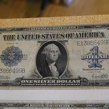 Silver Certificate One Silver Dollar