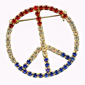 Vintage 1960s - early 1970s Hippie PEACE SIGN Jewelry - Costume Jewelry