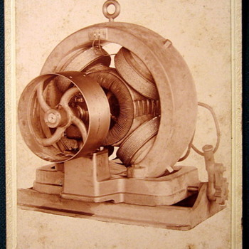 Cabinet card of unknown motor or machine  - Photographs