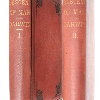 Darwin&#039;s &quot;Descent of Man&quot; First American Edition, First Printing 1871 (Quanitity Issued?) - Books