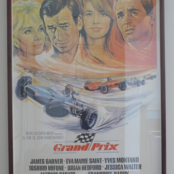 1967 'Grand Prix' Film Poster - Spanish Edition - Posters and Prints