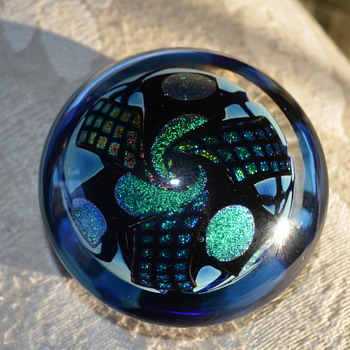 Art Glass Paperweight - Art Glass