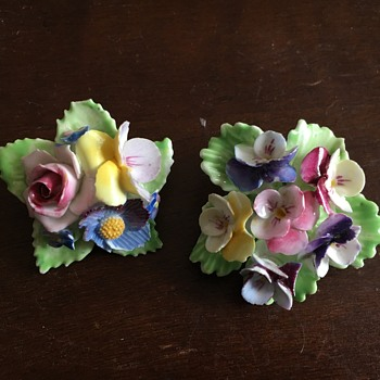 English Floral Brooches