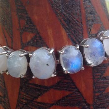 Art Deco Silver Labradorite Bracelet - Art Deco