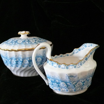 Sugar Bowl and Creamer, England