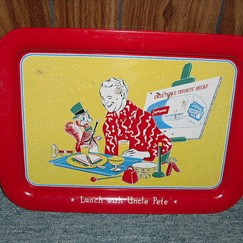 TV tray depicting Uncle Pete Boyle - Advertising