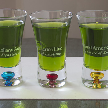 Holland America Lines Shot Glasses…. - Advertising
