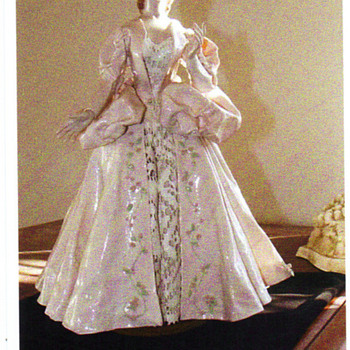 vintage china doll with ceramic coat by Grace Sigo - Pottery
