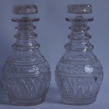 A Pair of 1930s Decanters