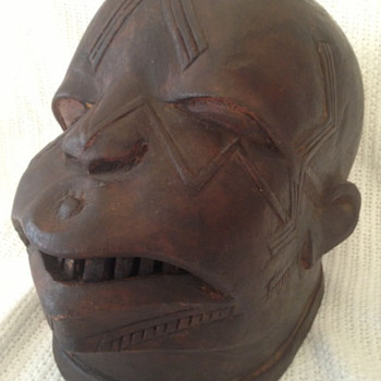 Vintage African Mask - Arts and Crafts