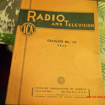 Original Radio and Television Catalog No. 150 from 1933  - Paper