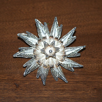 Filigree Sterling Silver Brooch