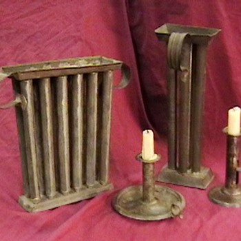 Early Candle Holders and Candle Molds - Tools and Hardware