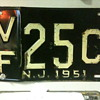 1951 New Jersey License Plate