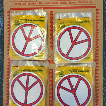 #55 ~ 1960s IMPKO Store Display Peace Symbol Stickers - Advertising