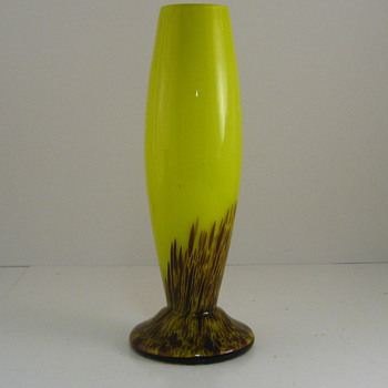 Kralik Yellow Rocket Vase - Art Glass