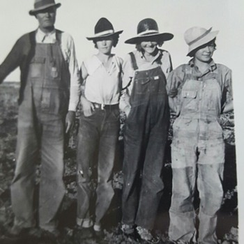 BUD & HIS DAUGHTERS,COLORADO MINER FAMILY  PHOTO, 1936