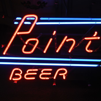 70's Stevens Point Beer Brewery Neon - Signs