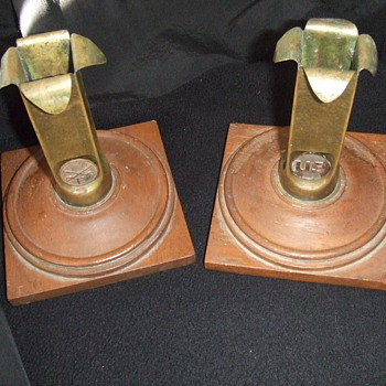 Trench Art candle stands