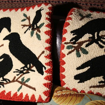 Chandler 4 Corners Pillow Covers - Hooked Rug Pillow Covers