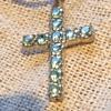 Blue stone cross