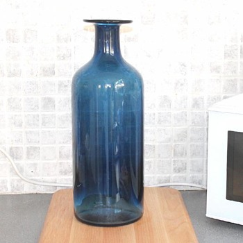 Tall modernist cobalt blue vase - Glassware