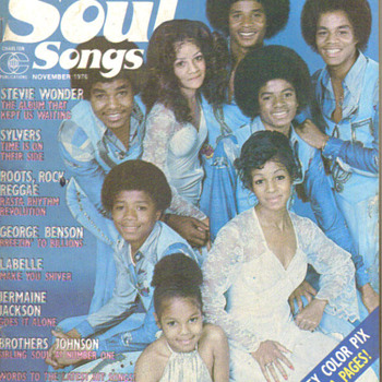 Rare rock and soul magazine with Jackson Family on cover  - Music