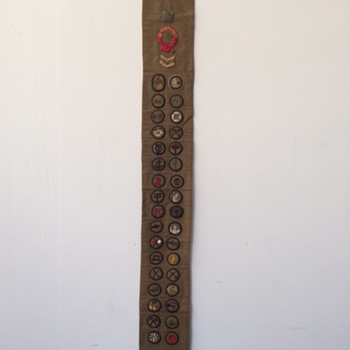 Uniform Girl Scout Sash 20's-30's