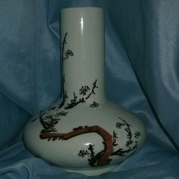 Unknown Squat Vase - Art Pottery