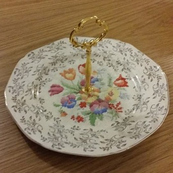 Vintage English Cake Plate - China and Dinnerware